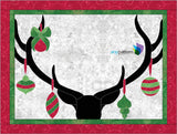 Deer Christmas Quilt Applique Pattern