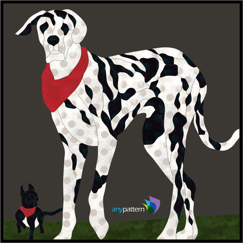 Dogs Gibson and Zoe Applique Quilt Pattern