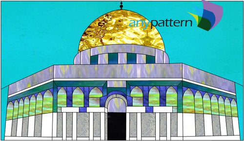 Dome of the Rock Stained Glass Pattern