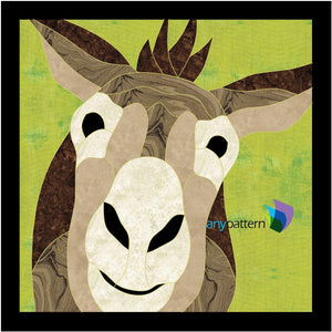 Donkey Applique Quilt Pattern on green
