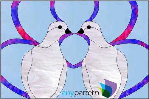 Dove Love Stained Glass Pattern