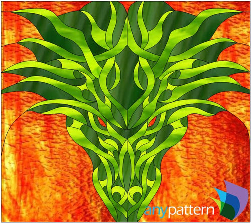 Dragon Stained Glass Pattern