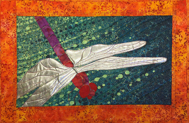 Dragonfly Up close Quilt Applique Sample