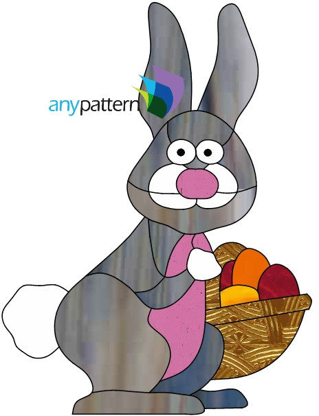 Easter Bunny Free Stained Glass Pattern