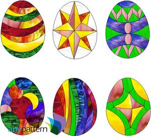 Easter Eggs 2015 Stained Glass Pattern