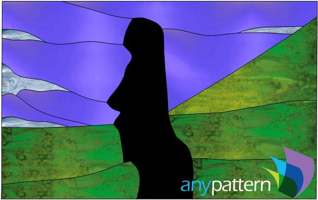 Easter Island Stained Glass Pattern