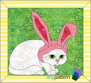 Easter Kitty Applique Quilt Pattern