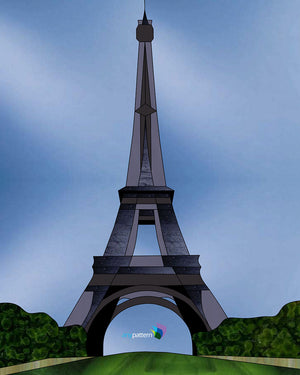 Eiffel Tower Stained Glass Pattern