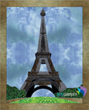 Eiffel Tower Applique Quilt Pattern