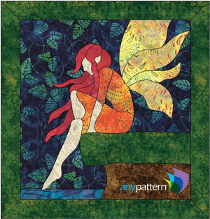 Fairy Puddle Applique Quilt Pattern