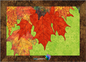 Fall Maple Leaves Applique Quilt Pattern