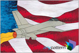 Fighter Jet FS stained glass pattern