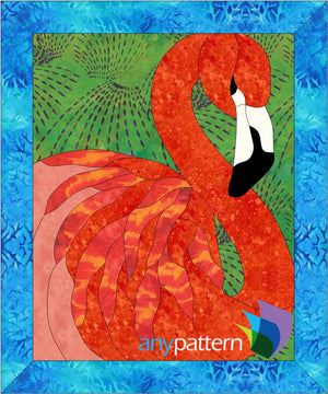 Flamingo Quilt Applique Pattern
