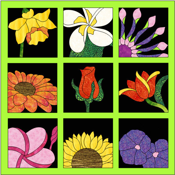 Tulip Block - Quilt Kit