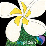 Frangipani applique quilt pattern