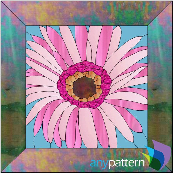 Gerbera Daisy Stained Glass Pattern