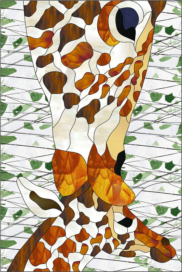 Giraffes Stained Glass Pattern