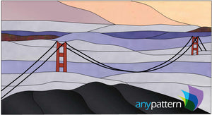 Golden Gate Bridge Stained Glass Pattern