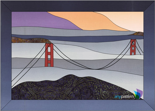 Golden Gate Bridge Applique Quilt Pattern