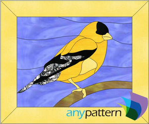 Goldfinch Stained Glass Pattern