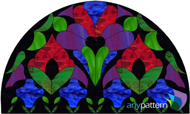 Gothic Transom Stained Glass Pattern