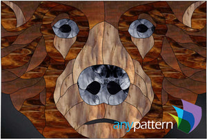 Grizzly Bear Stained Glass Pattern