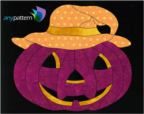 Halloween-Happy Jack Applique Quilt Pattern