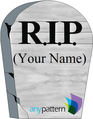 Headstone Stained Glass Pattern