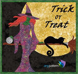 Halloween-Sexy Witch Quilt Applique Pattern