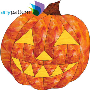 Halloween Pumpkin Stained Glass Pattern