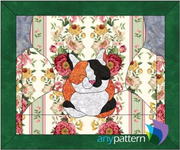 Happy Cat Applique Quilt Pattern