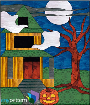 Haunted House Stained Glass Pattern
