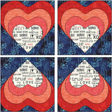 Heart Block Quilt Example Applique Pattern