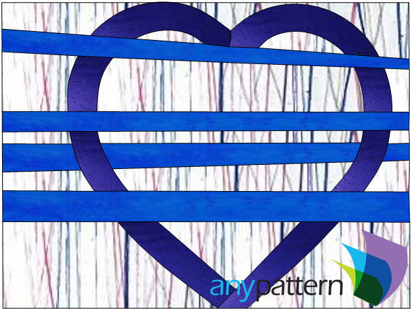 Heart Simple Stained Glass Pattern