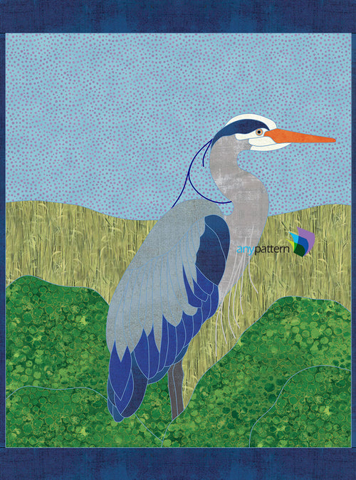 Heron Applique Quilt Pattern