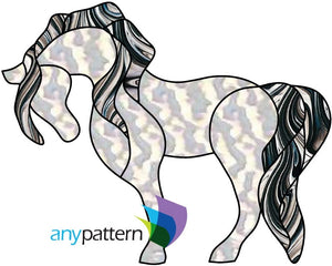 Horse Free form Stained Glass Pattern