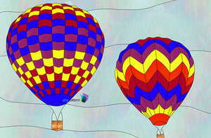 Hot Air Balloons Stained Glass Pattern