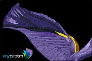 Iris Stained Glass Pattern