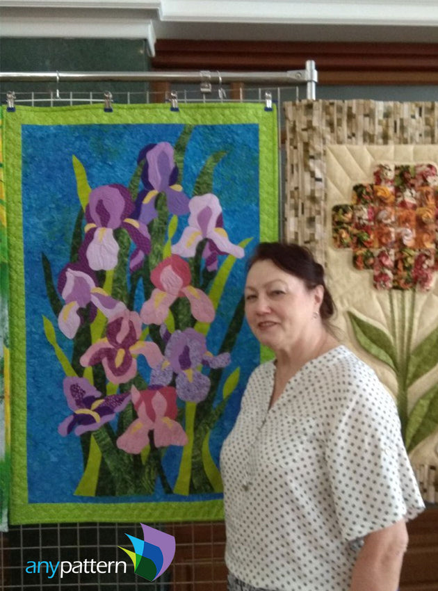Irises Applique Pattern
