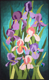 Irises Applique Quilt Finished Example