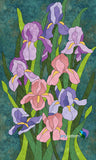 Irises Quilt Applique Pattern