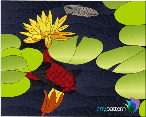 Koi Pond Stained Glass Pattern