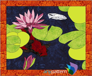 Koi Pond Applique Quilt Pattern