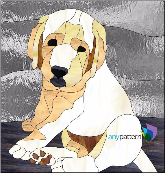 Dog Labrador Puppy Stained Glass Pattern