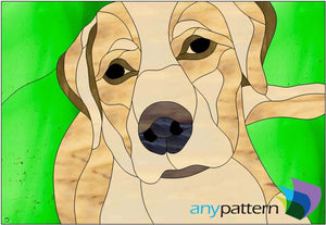 Labrador Stained Glass Pattern