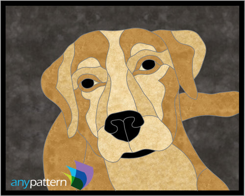 Labrador Dog Applique Quilt Pattern
