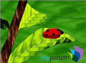 Ladybug Stained Glass Pattern