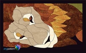 Lazy Lion Applique Quilt Pattern