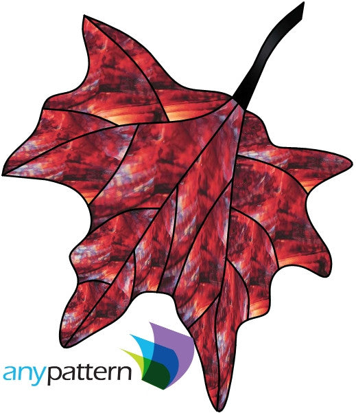 Leaf Free Form Stained Glass Pattern