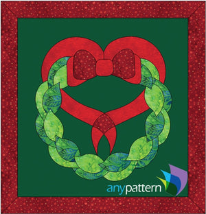 Love Christmas Wreath Applique Quilt Pattern